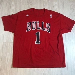 Chicago Bulls Derrick Rose Adidas T-Shirt Size XL